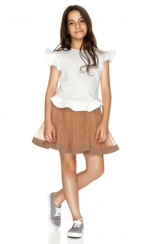 Light Brown Silk Skirt