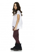 White Asymmetrical T-shirt