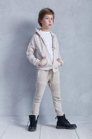 Beige Hooded Sweatshirt