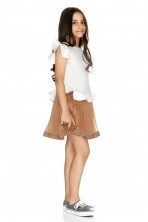 Light Brown Silk Skirt