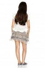 Grey Silk Mini Skirt