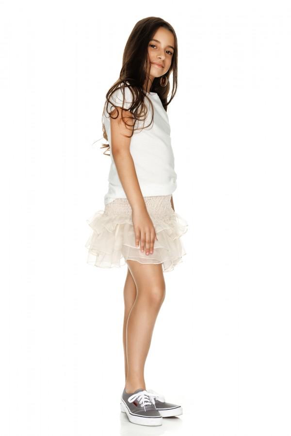 New Off White Mini Skirt - Little PNK DG44