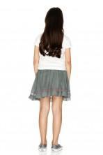 Army Green Boho Skirt