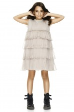 Beige Silk And Cotton Dress
