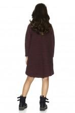 Burgundy Cotton Ribbed Dress