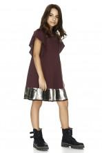 Burgundy Sequins Detail Dress